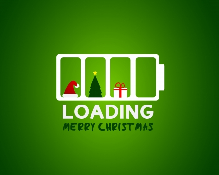 merry christmas web sale loading concept Vector