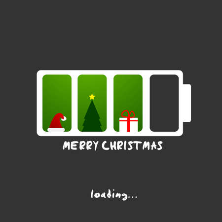 merry christmas and new year greeting card Stock Vector - 16431075