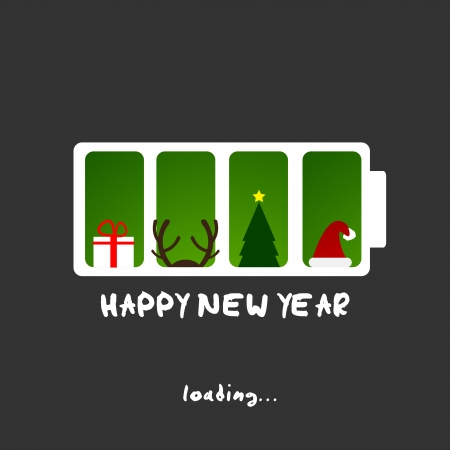 happy new year, christmas funny card design Vector