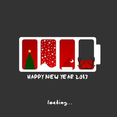 2013 new year, merry christmas design Vector