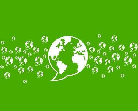 thinking green, environment world communication Stock Vector - 16729542