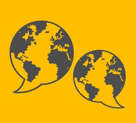 global communication illustration Stock Vector - 16729590