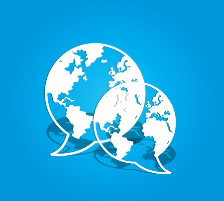 global social media communications Vector