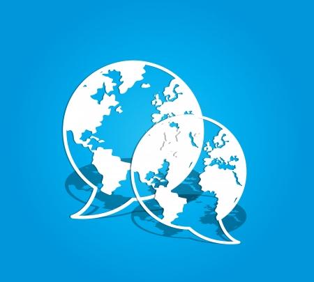 globalen Social-Media-Kommunikation