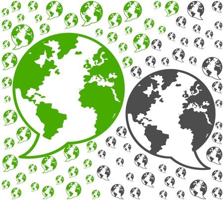 global environment communications illustration background Stock Vector - 16729533