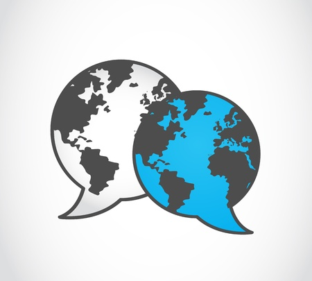 social media concept: global social media concept Illustration