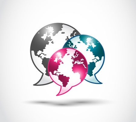 technology world of speech bubbles Stock Vector - 16729537