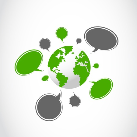 speak bubble: abstract social media illustration background