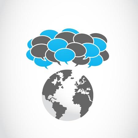 tweet balloon: social media sharing thought bubbles Illustration