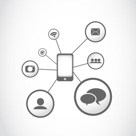 smartphone apps icon concept Stock Vector - 16729579
