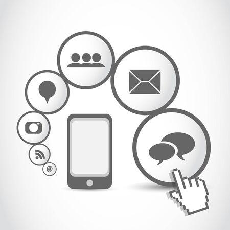 smart mobil phone application cloud Stock Vector - 16729568