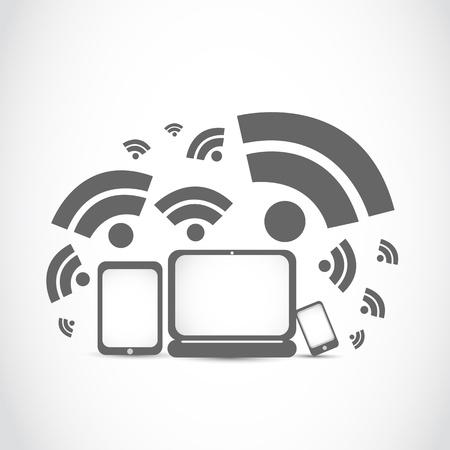 ポータブルの wifi の技術  イラスト・ベクター素材
