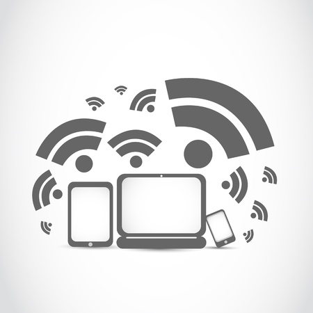 portable: portable wifi technology Illustration
