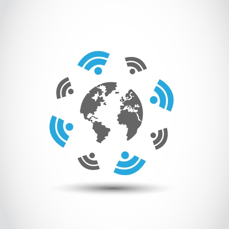 world wireless connections technology Stock Vector - 17296476