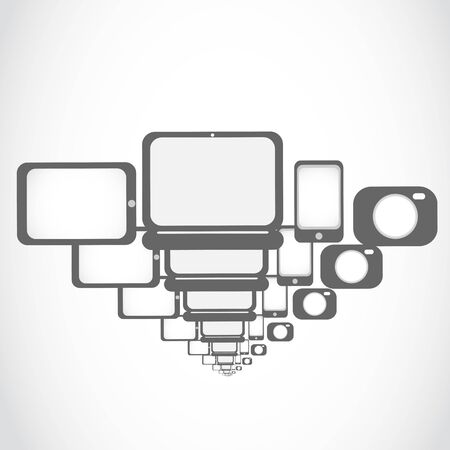 electronic technology icons concept Stock Vector - 17296330