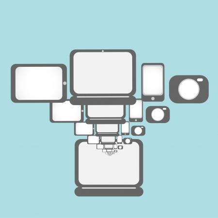 laptop computer technology illustration background Stock Vector - 17296328