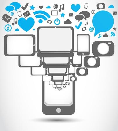 mobil: social media mobil telefoon applicaties