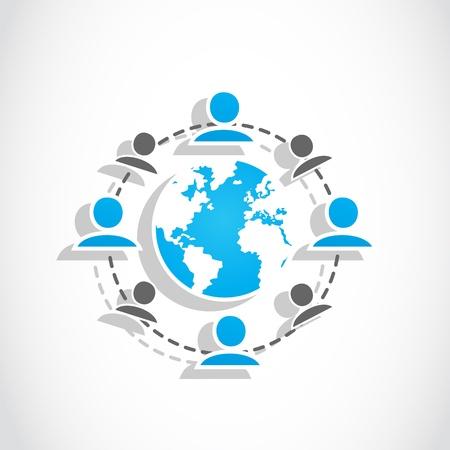 sociale media wereld groep Vector Illustratie