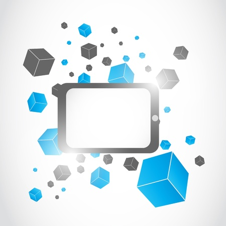 abstract modern tablet computer illustration background Vector