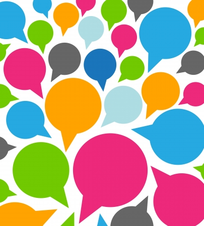 chatter: colorful funny speech bubbles Illustration