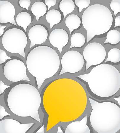 hablando: nubes papel del habla, destac�ndose concepto