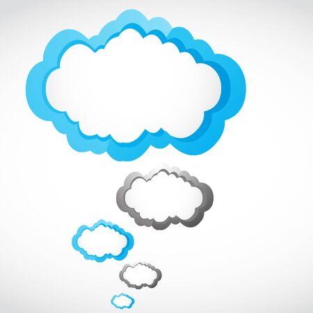 social media speech bubble group Stock Vector - 17296503