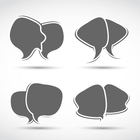 abstract dialog speech bubbles Vector