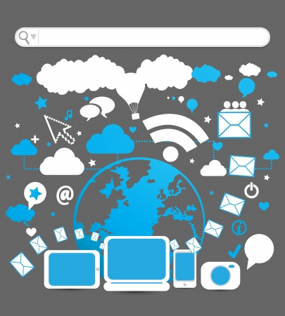 social media Stock Vector - 17296403