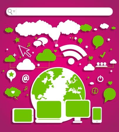 website concept Stock Vector - 17296412