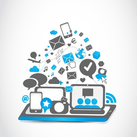 タブレット pc 接続技術