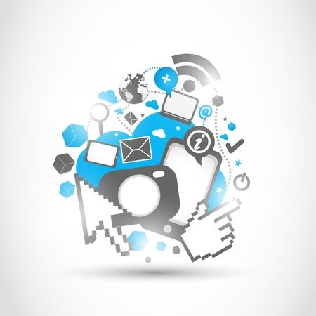 ビジネス技術の変化  イラスト・ベクター素材