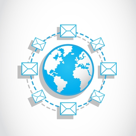 communication world email messaging Stock Vector - 17296347