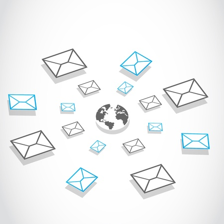 global email messaging system Stock Vector - 17296316