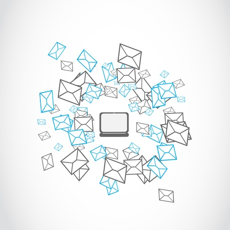 mailing: email mailing concept