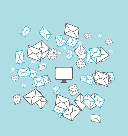 sobres de carta: concepto de correo lista
