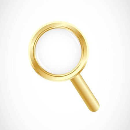 golden magnifying glass Stock Vector - 17296496