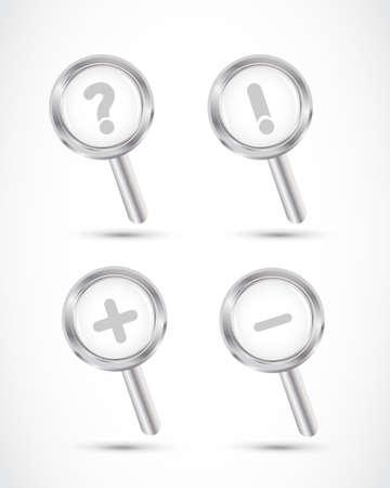 magnifying glass set illustration Stock Vector - 17296536