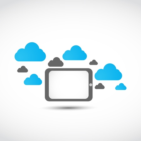 tablet cloud computing concept Stock Vector - 17296468