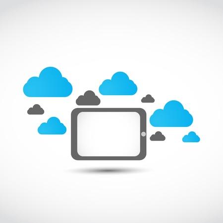 tablet cloud computing concept Stock Vector - 17296468