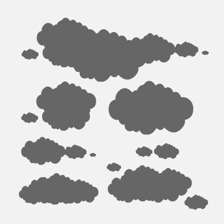 cloud set illustration Stock Vector - 17296306