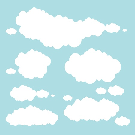 soft blue clouds Stock Vector - 17296304