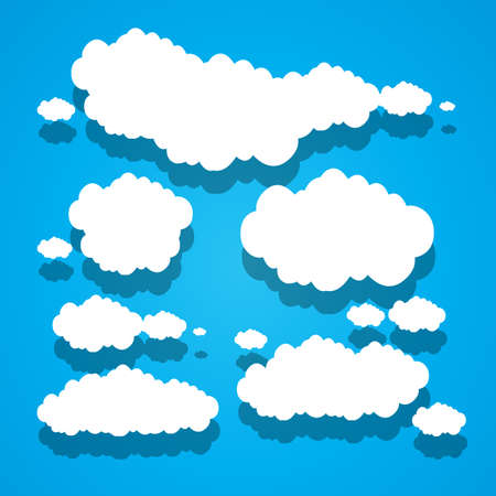 paper clouds blue sky background Stock Vector - 17296368