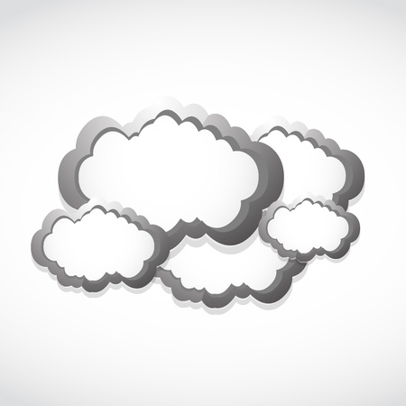 metallic clouds concept background Stock Vector - 17296499