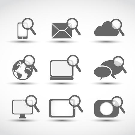social media technology icons Stock Vector - 17296515