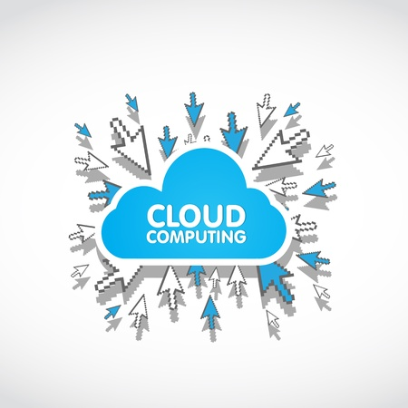 cloud computing web concept Vector