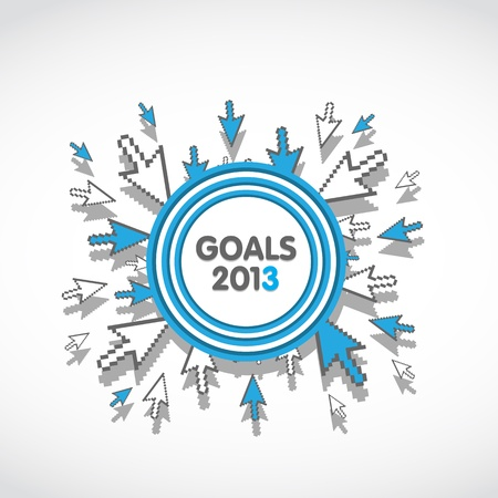 goals 2013 business target concept Stock Vector - 17296405