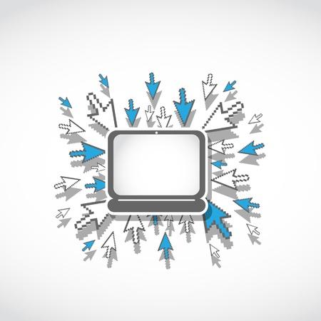 laptop web technology concept Stock Vector - 17296413