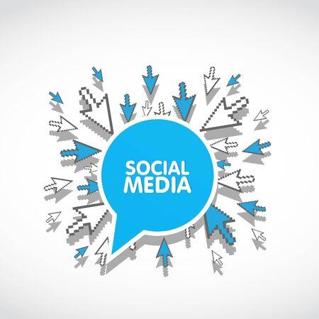 social media web concept Stock Vector - 17296410