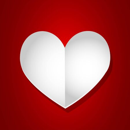 Valentine day empty page heart Stock Vector - 17570345