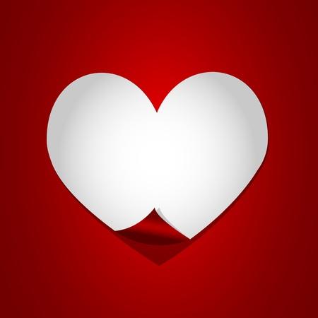 white heart paper Stock Vector - 17570346